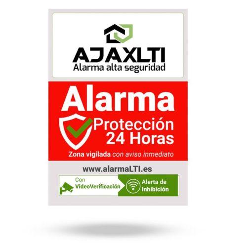 Cartel disuasorio de Alarma Ajax en vinilo